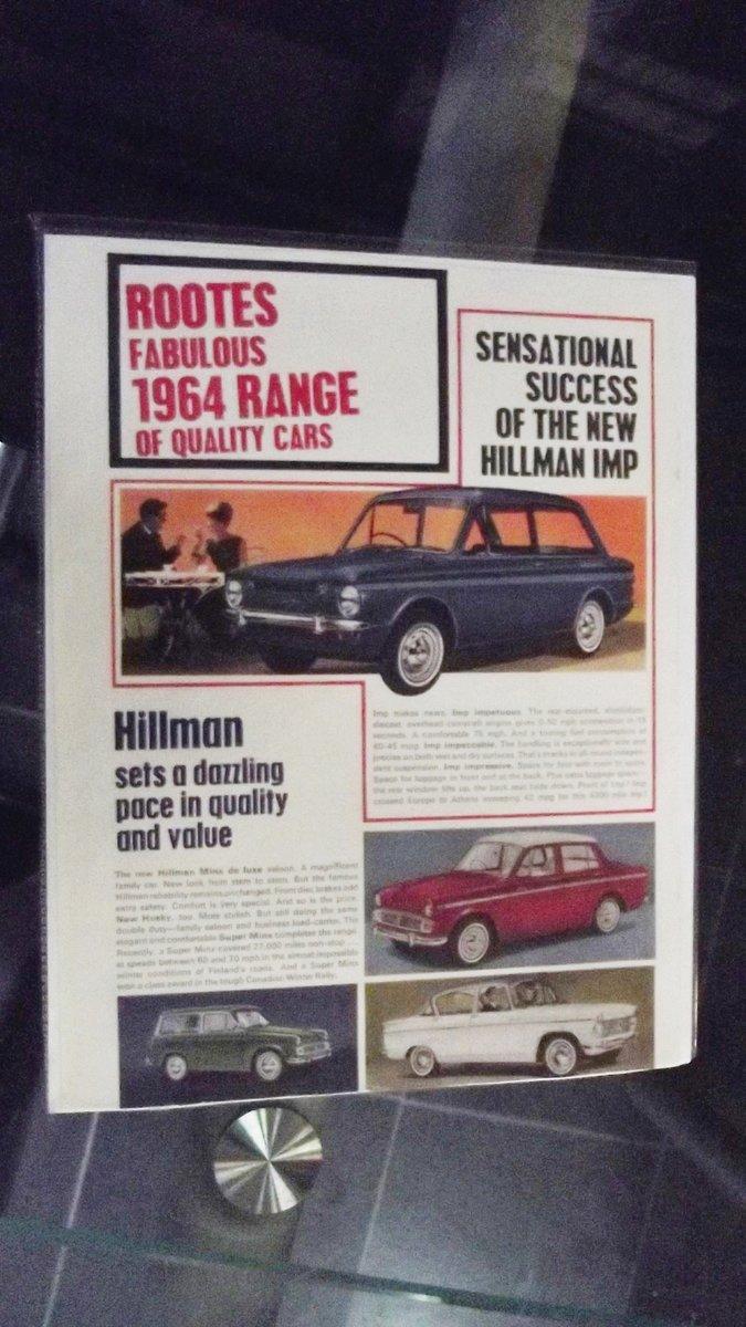 0000 HILLMAN MINX, IMP. HUSKY ORIGINAL ADVERTISEMENTS 4 SALE For Sale (picture 2 of 6)