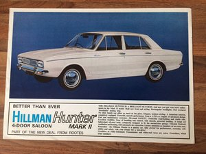 Hillman Hunter Mk2 sales pamphlet