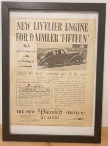 Picture of 1969 Original 1938 Daimler 15 Framed Advert  For Sale