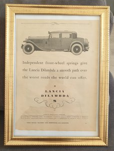 Picture of 1953 Original 1930 Lancia Dilambda Framed Advert