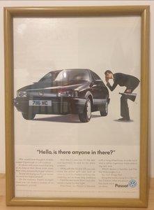 Original 1990 Volkswagen Passat Framed Advert