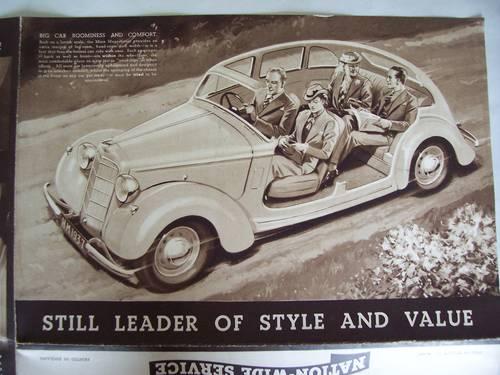 HILLMAN MINX MAGNIFICENT 1937 SALES BROCHURE For Sale (picture 5 of 6)