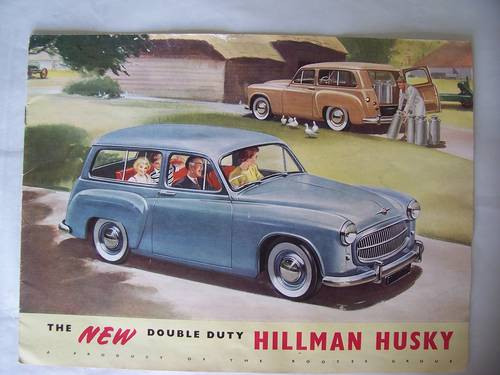HILLMAN HUSKY SALES BROCHURE 1954 SOLD (picture 1 of 6)