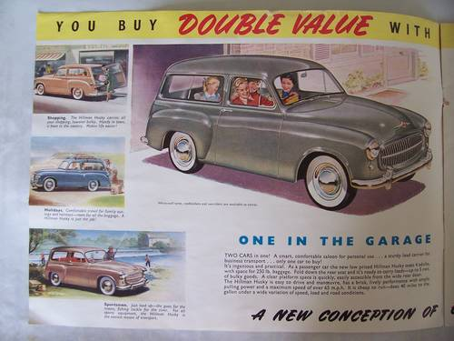 HILLMAN HUSKY SALES BROCHURE 1954 SOLD (picture 2 of 6)