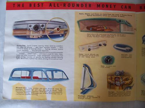 HILLMAN HUSKY SALES BROCHURE 1954 SOLD (picture 6 of 6)