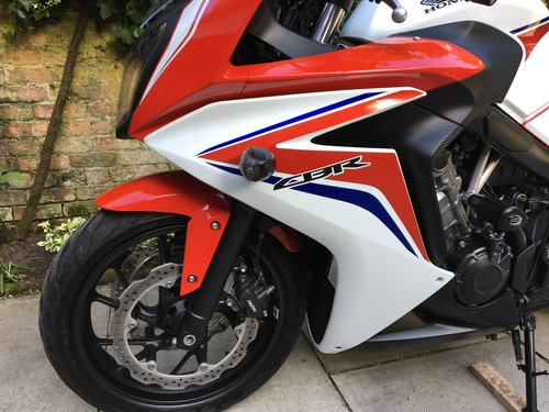 2014 Honda CBR650F ABS, 4125 miles, Immaculate  SOLD (picture 5 of 6)