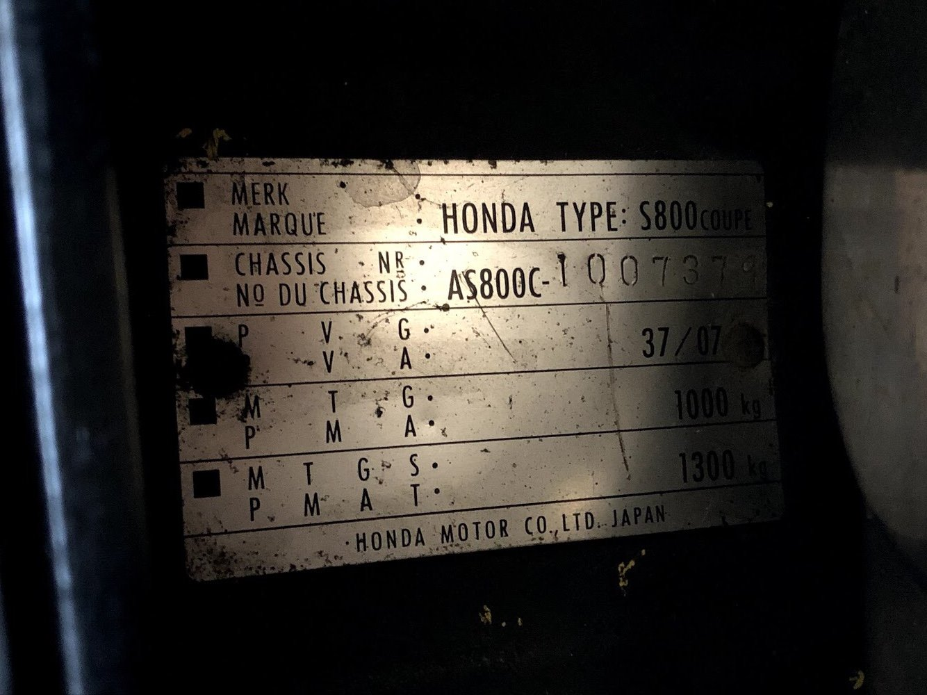 1969 Honda S800 Coupe LHD For Sale (picture 6 of 6)