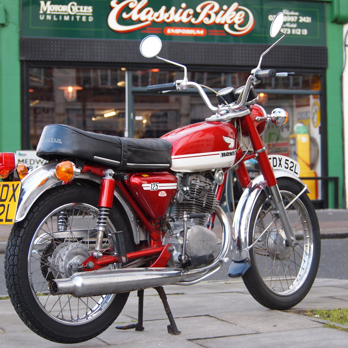 1973 CB125 S Ready To Ride, All Original, SOLD TO LAINYA. SOLD (picture 1 of 6)