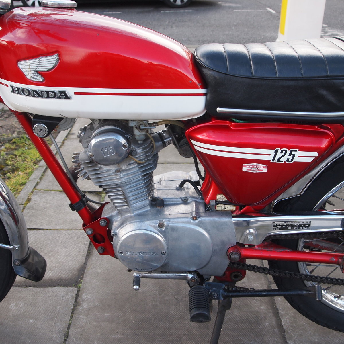 1973 CB125 S Ready To Ride, All Original, SOLD TO LAINYA. SOLD (picture 6 of 6)