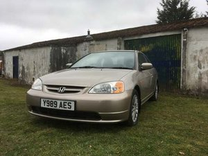 2001 Honda Civic Coupe at Morris Leslie Auction 25th May SOLD by Auction