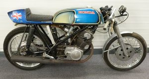 1965 1960s Honda CB72 with Seeley type frame