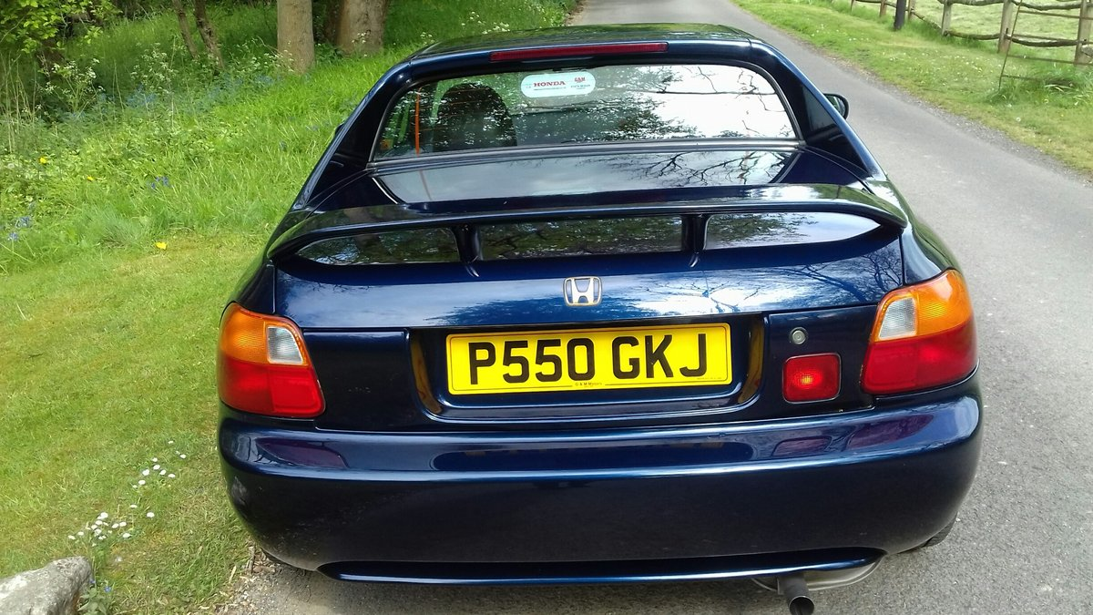 1996 Genuine UK Honda CRX 2seater fun convertible. For Sale (picture 6 of 6)