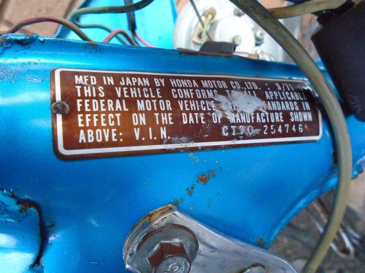 HONDA CT70 TRAIL MONKEY BIKE (1971)METALLIC BLUE! NICE BIKE! SOLD (picture 5 of 6)