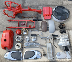 1965 Honda CZ100 Red Tank Parts Project For Sale