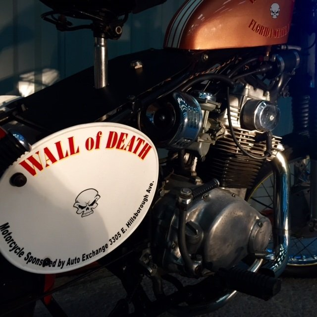 1972 Florida State Circus Wall of Death Motorcycle For Sale (picture 4 of 6)