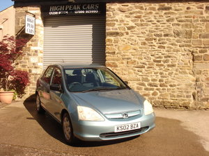 2002 02 HONDA CIVIC 1.6 S 5DR 66524 MILES A/C. For Sale