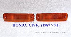1988 Front Bumper Indicators _ Amber Set of 2