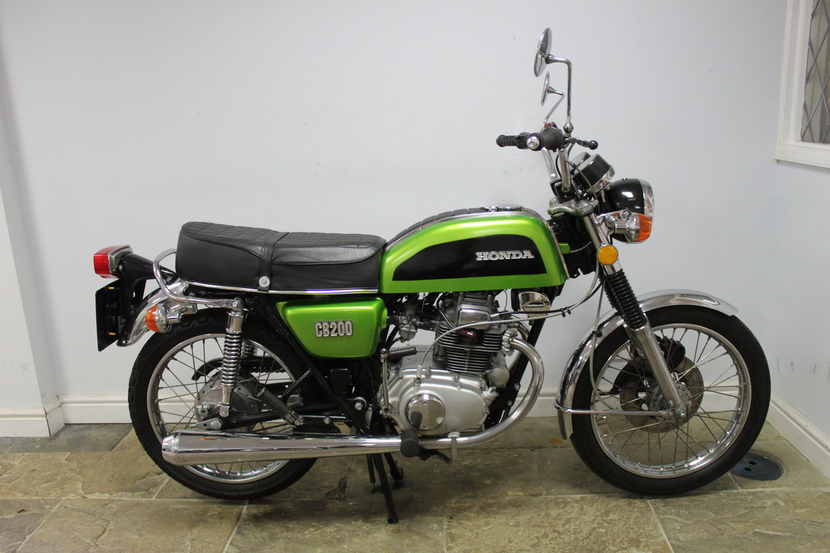 1976 Honda CB200 Beautiful Example restored 2016 , SOLD (picture 1 of 6)