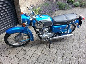 Honda CD175 A4 1972 - candy sapphire blue