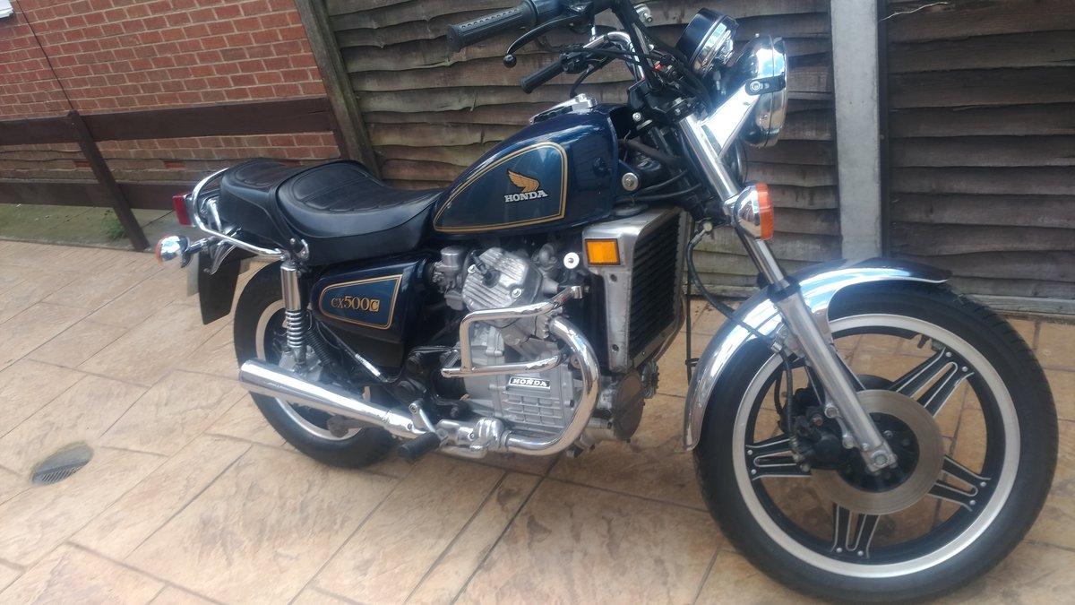 1983 CX500 Custom in blue 3,400 dry miles For Sale | Car And