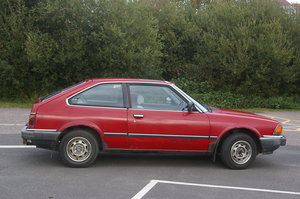 1983 Red Honda Accord 3 door Hatchback..