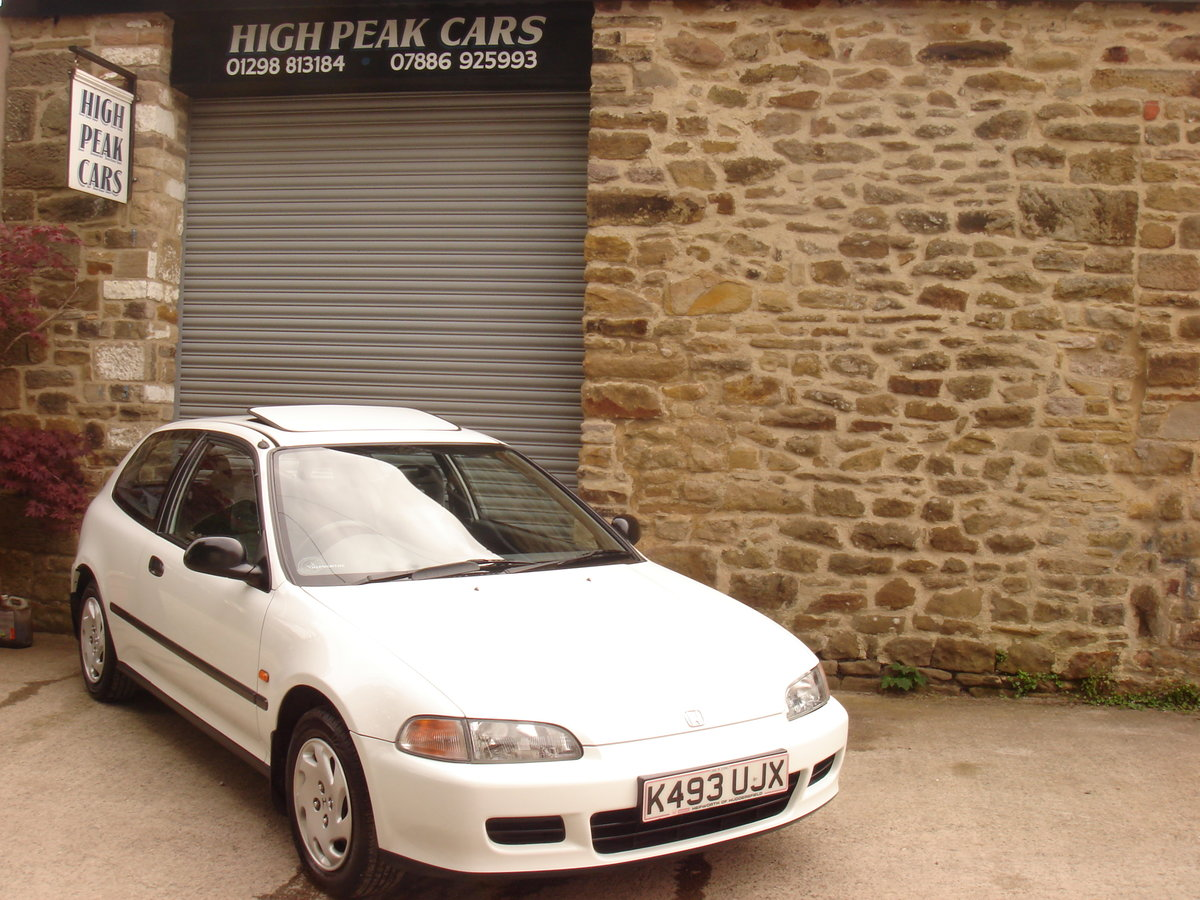 1993 K HONDA CIVIC 1.6 ESi 3DR AUTOMATIC. 1 LADY OWNER.  For Sale (picture 1 of 6)