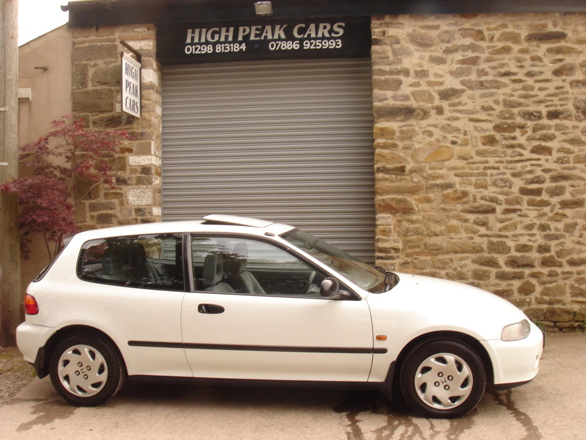 1993 K HONDA CIVIC 1.6 ESi 3DR AUTOMATIC. 1 LADY OWNER.  For Sale (picture 5 of 6)