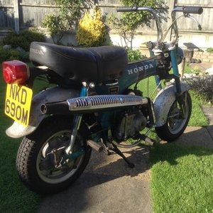 1973 Honda / dax st70  monkey bike, recommissioned