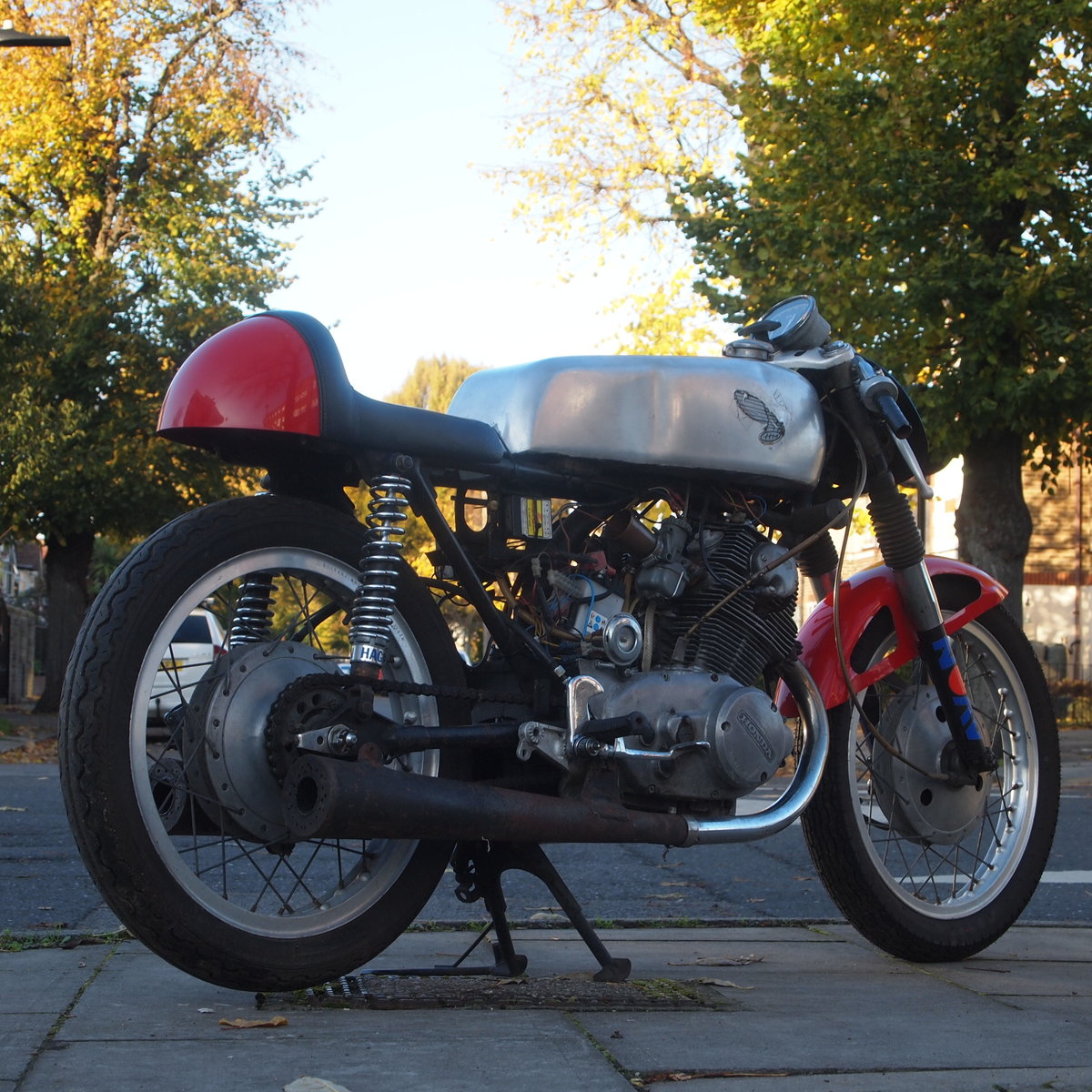 1963 Classic road legal Honda CB77 305cc Cafe Racer. SOLD SOLD (picture 1 of 6)