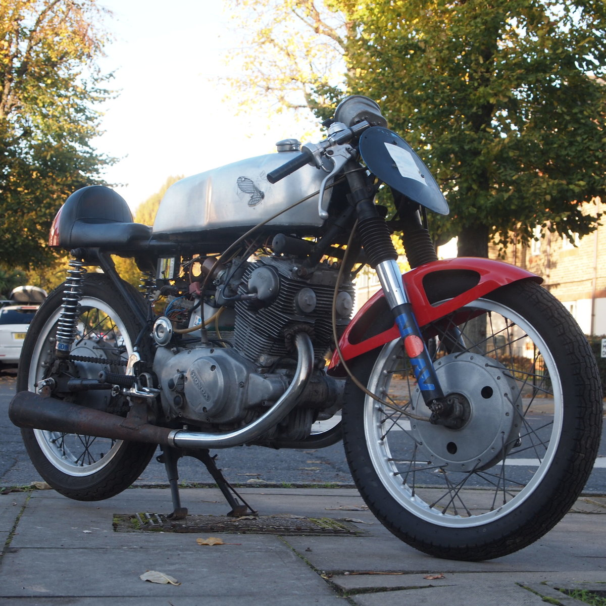 1963 Classic road legal Honda CB77 305cc Cafe Racer. SOLD SOLD (picture 2 of 6)
