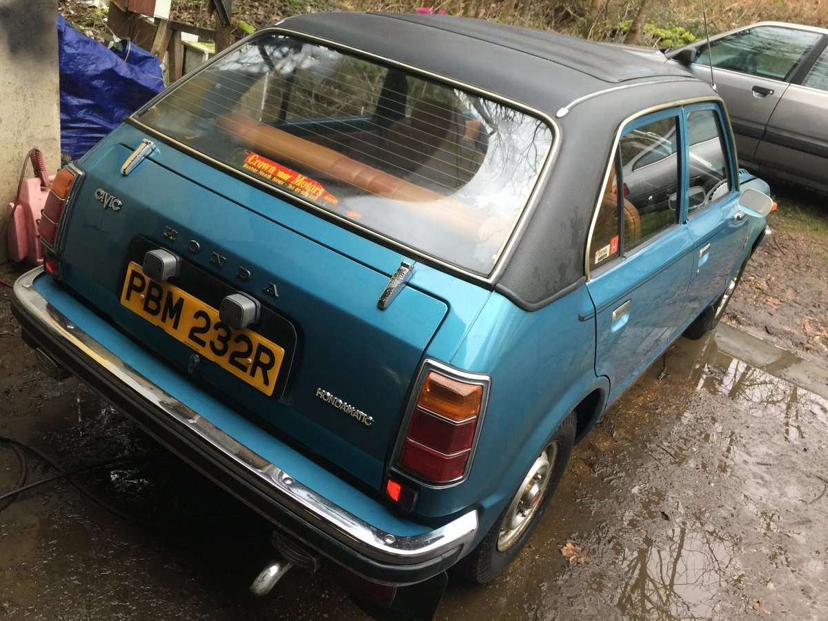 1976 Honda civic 1500 mk1 very rare i owner 19100 m For Sale (picture 3 of 6)