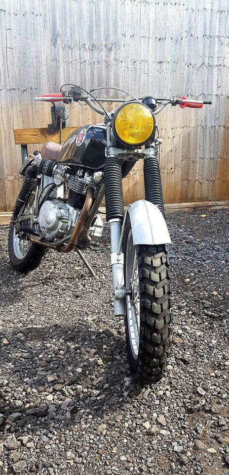1977 XL250 Rat Rod with Motosport engine For Sale (picture 1 of 6)