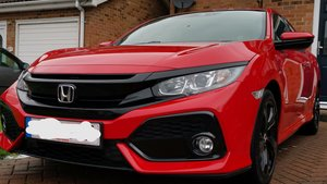 Immaculate hondasr civic 10th gen red manual 1.0t