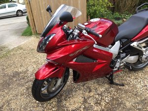2008 VFR 800 Vtec with full luggage  in metalic Red
