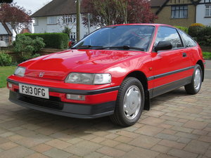 1989 Honda CRX 1.6i 16v Rio Red