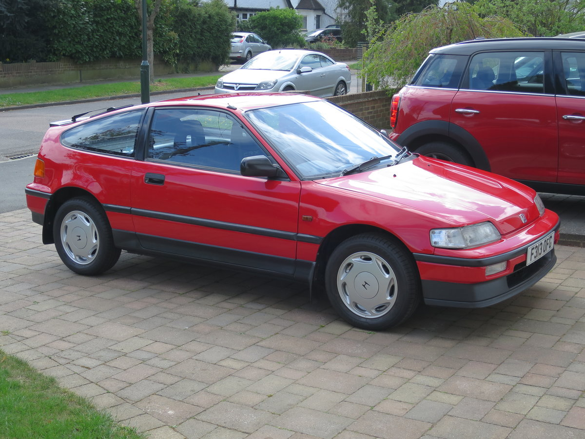 1989 Honda CRX 1.6i 16v Rio Red SOLD (picture 2 of 6)