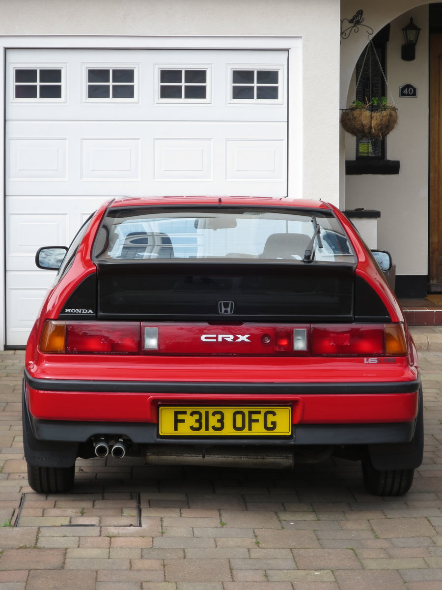 1989 Honda CRX 1.6i 16v Rio Red SOLD (picture 4 of 6)
