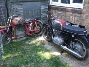 Job-lot Honda CB72 parts, enough to build 2+ bikes
