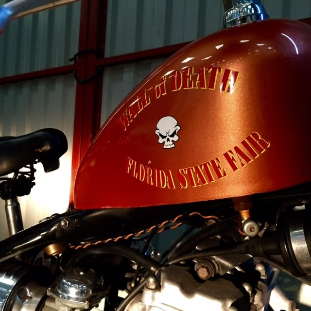 1972 Florida State Circus Wall of Death Motorcycle For Sale (picture 3 of 4)