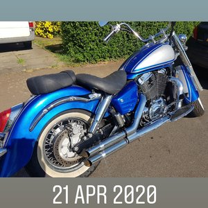 2002 Blue Honda Shadow 1100