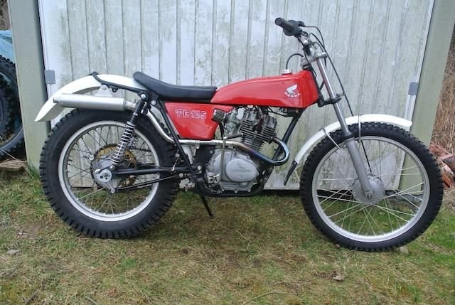 1977 HONDA TL125 TRIALS MOTORCYCLE (LOT 453) SOLD by Auction (picture 1 of 1)