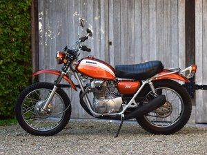 Completely restored Honda SL350 in Candy Topaz Orange