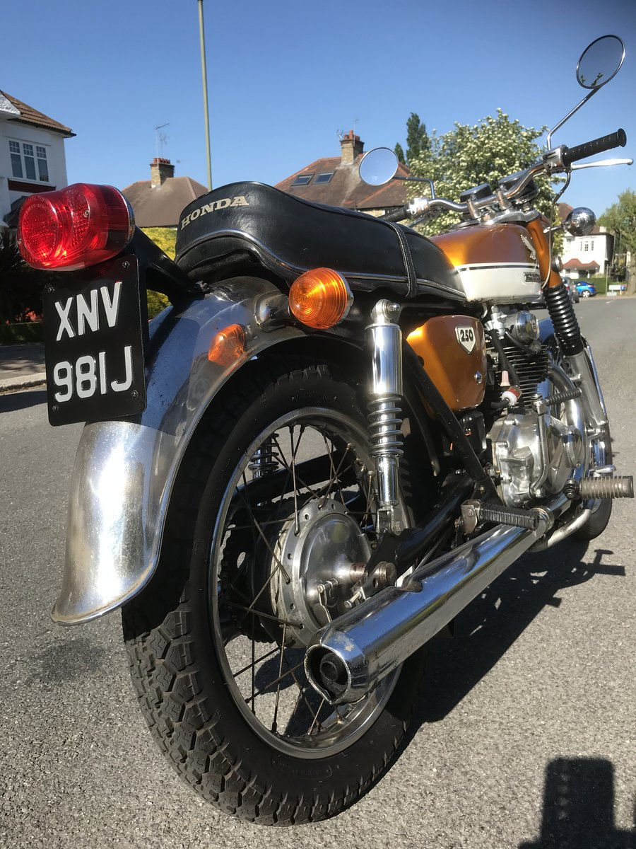 1970 Vintage Honda cb 250 For Sale (picture 1 of 3)