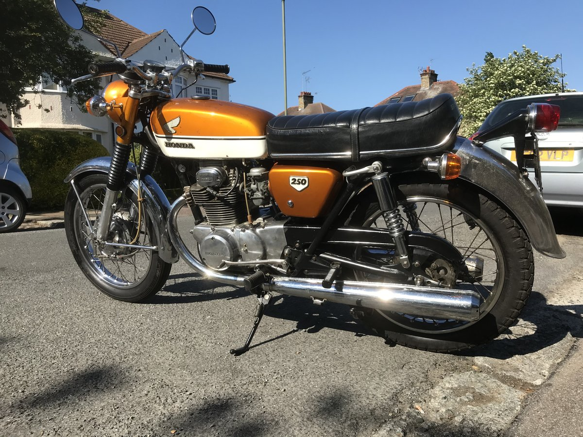 1970 Vintage Honda cb 250 For Sale (picture 2 of 3)