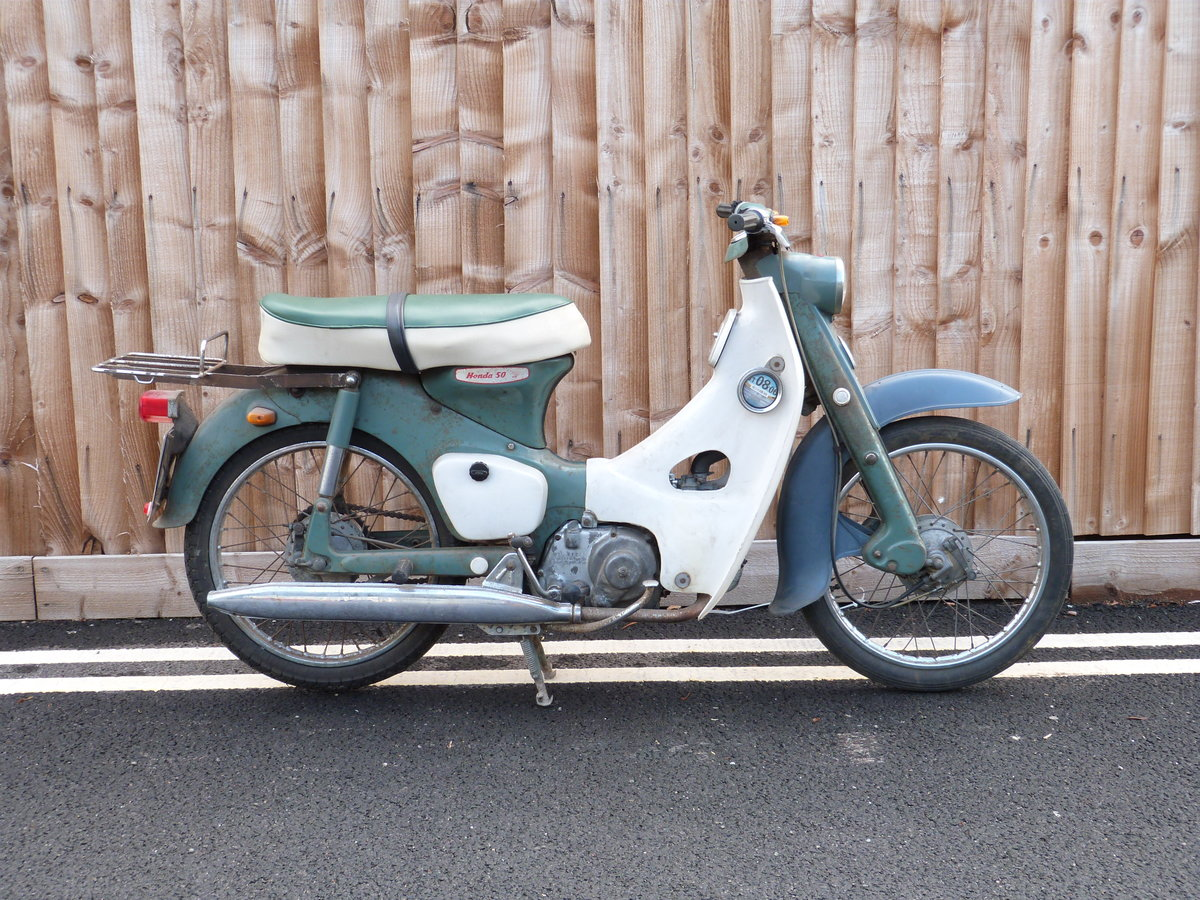 1965 Honda C100 50cc step through moped SOLD by Auction (picture 1 of 6)