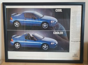 Original 1992 Honda CRX Framed Advert