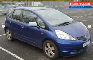Honda Jazz l-vtec SE 82,742 Miles for auction 25th