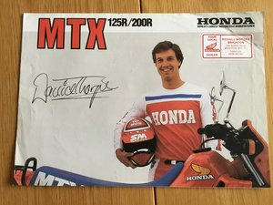 Picture of 1983 Honda MTX 125r/200r brochure For Sale