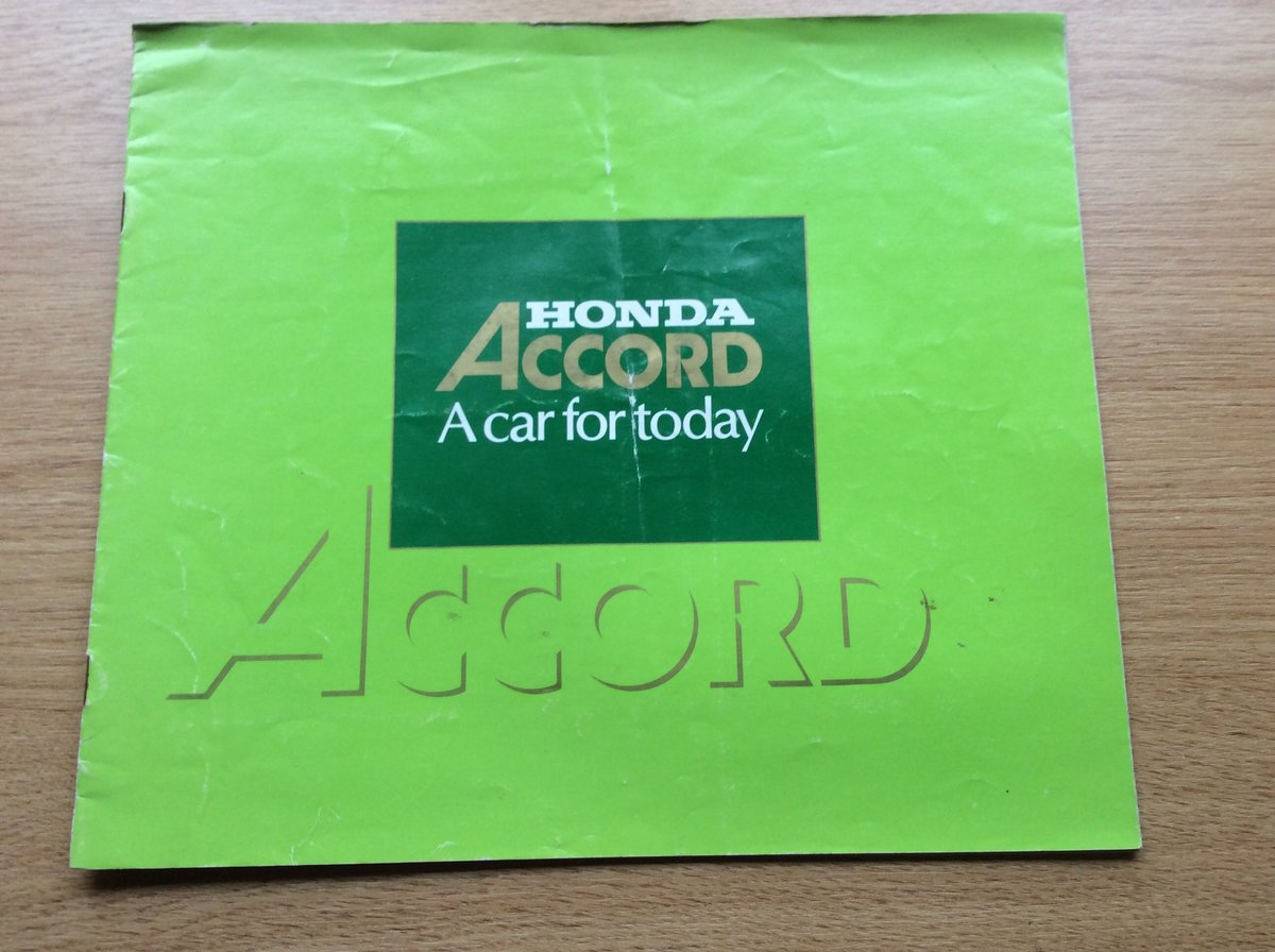 Sales brochure for Honda Accord For Sale (picture 1 of 2)