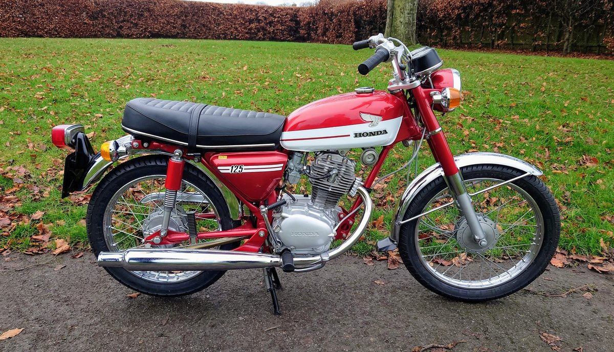 A 1973 Honda CB125 S - 30/06/2021 For Sale by Auction (picture 1 of 8)